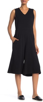 Eileen Fisher Sleeveless Stretch Culotte Jumpsuit