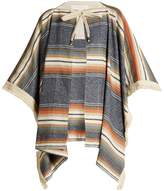 See by Chloe Striped cotton-blend cape