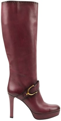 Gucci \N Purple Leather Boots