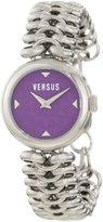Versus By Versace Women's 3C68300000 Optical Stainless Steel Purple Dial Watch