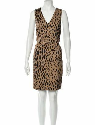 Fausto Puglisi Animal Print Knee-Length Dress w/ Tags Brown