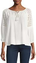 Raga Avila Lace-Shoulder Blouse