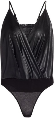 Bailey 44 Adi Faux-Leather Bodysuit