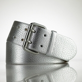 Metallic Contour Leather Belt