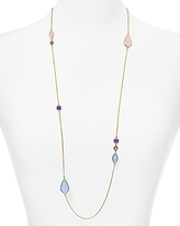 Argentovivo Stone Station Necklace, 34