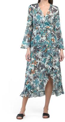 Zara Floral Hi-lo Cover-up Dress