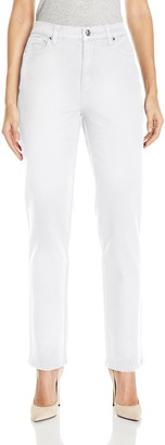 Gloria Vanderbilt Women's Amanda Straight Leg Jean In Black