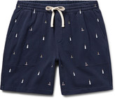 J.crew - Lighthouse Embroidered Loopback Cotton-jersey Shorts