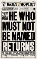 Harry Potter Daily ProphetTM He Who Must Not Be Named Returns Print, Black