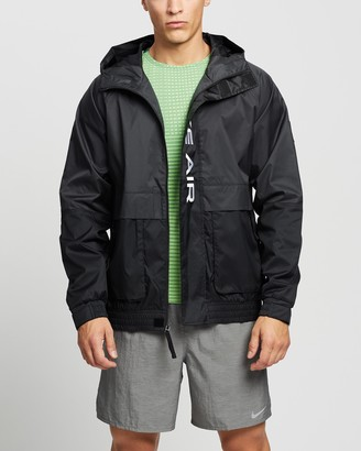 Nike Men's Black Jackets Air Woven Hooded Jacket - Size XS at The Iconic