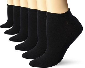 Keds Women's 6 Pack Solid Low Show Socks