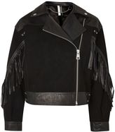 Topshop Stand Out Embellished Leather Biker Jacket