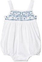Ralph Lauren White and Blue Embroidered Romper