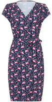 Yumi Flamingo Jersey Wrap Dress