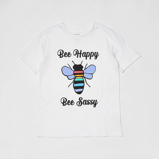 River Island Kids white 'bee happy' t-shirt
