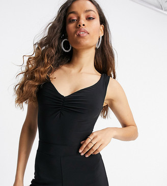 Club L London Petite off shoulder bodysuit in black