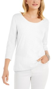 Style&Co. Style & Co 3/4-Sleeve Scoop-Neck Top, Created for Macy's