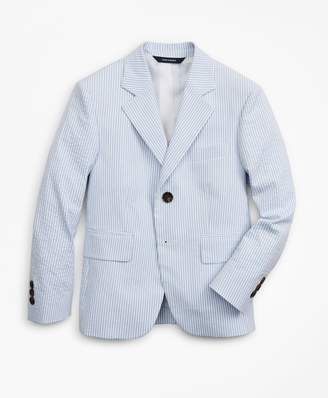 Brooks Brothers Boys Seersucker Two-Button Suit Jacket