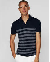 Express striped supersoft jersey polo