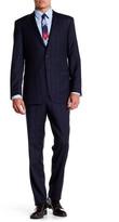 Ike Behar Navy Glenplaid Two Button Lapel Wool Suit