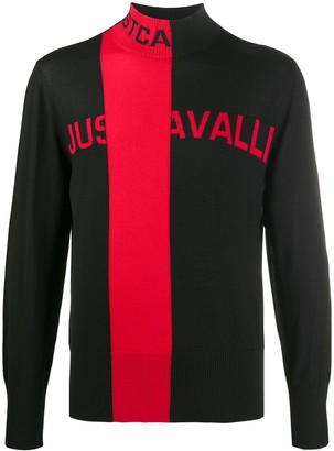 Just Cavalli Stripe Detail Logo Jumper