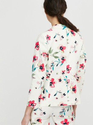 Monsoon Maisy Floral Print Jacket - Ivory