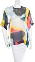 MSGM Silk Colorblock Blouse w/ Tags