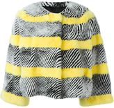 Liska striped mink fur jacket