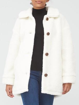 Very Teddy Faux Fur Coat - Ivory