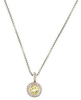 David Yurman Citrine & Diamond Petite Albion Pendant Necklace