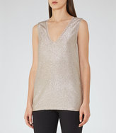 Reiss Ona Metallic Fluid Metallic Vest