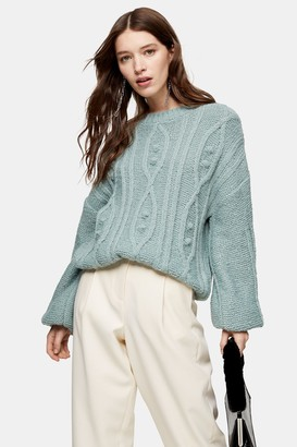 Topshop Sage Pretty Bobble Knitted Sweater