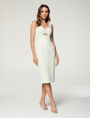 Forever New Layla Cut Out Midi Dress - Whisper Green - 10