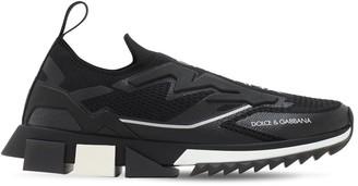 Dolce & Gabbana Sorrento Logo Print Mesh Sneakers