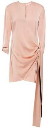 Victoria Victoria Beckham Victoria, Victoria Beckham Wrap-effect Draped Satin-crepe Mini Dress