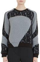 Carven Lace Panel Sweatshirt