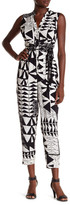Plenty by Tracy Reese Sleeveless Waist Tie Print Jumpsuit