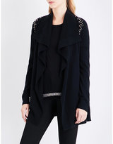 The Kooples Embellished-detail knitted cardigan
