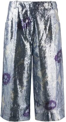 Jacquemus Le short dhomme sequinned culottes