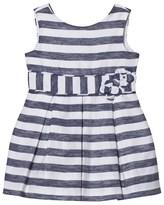 Mayoral Navy Stripe Bow Dress