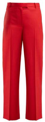The Row Lada Tailored Wool-crepe Trousers - Womens - Red