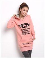 Comvison Winter Long Sleeve Women's Hoodie Warm Velvet Women Hoody Plus Size Sweatshirt (Size: Color: )