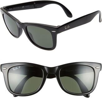 Ray-Ban 50mm Wayfarer Polarized Folding Sunglasses