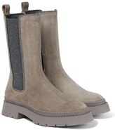 Thumbnail for your product : Brunello Cucinelli Suede Chelsea boots