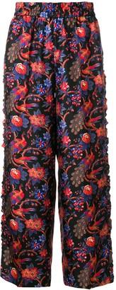 La DoubleJ Pavone Nero ruffle trousers