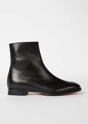 Women's Black Leather 'Reeves' Zip Boots
