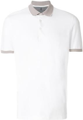 Brunello Cucinelli contrast collar polo shirt