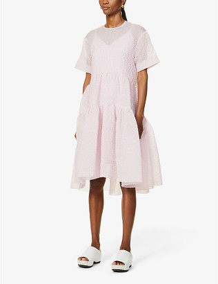 Victoria Victoria Beckham Tiered crepe midi dress