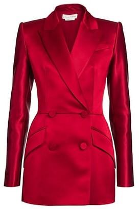 Alexander McQueen Double-Breasted Silk Blazer