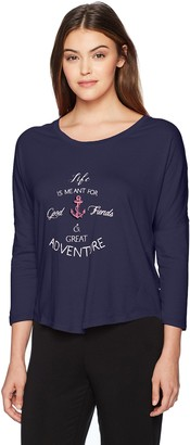 Nautica Women's Graphic Knit Jersey Lounge Top